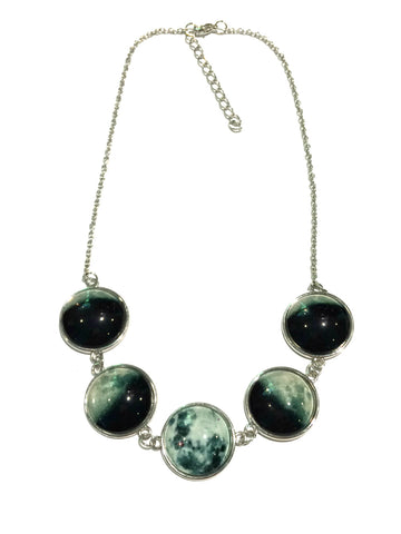 Moon Phase Statement Necklace | Celestial Fashion | Light Years Jewelry