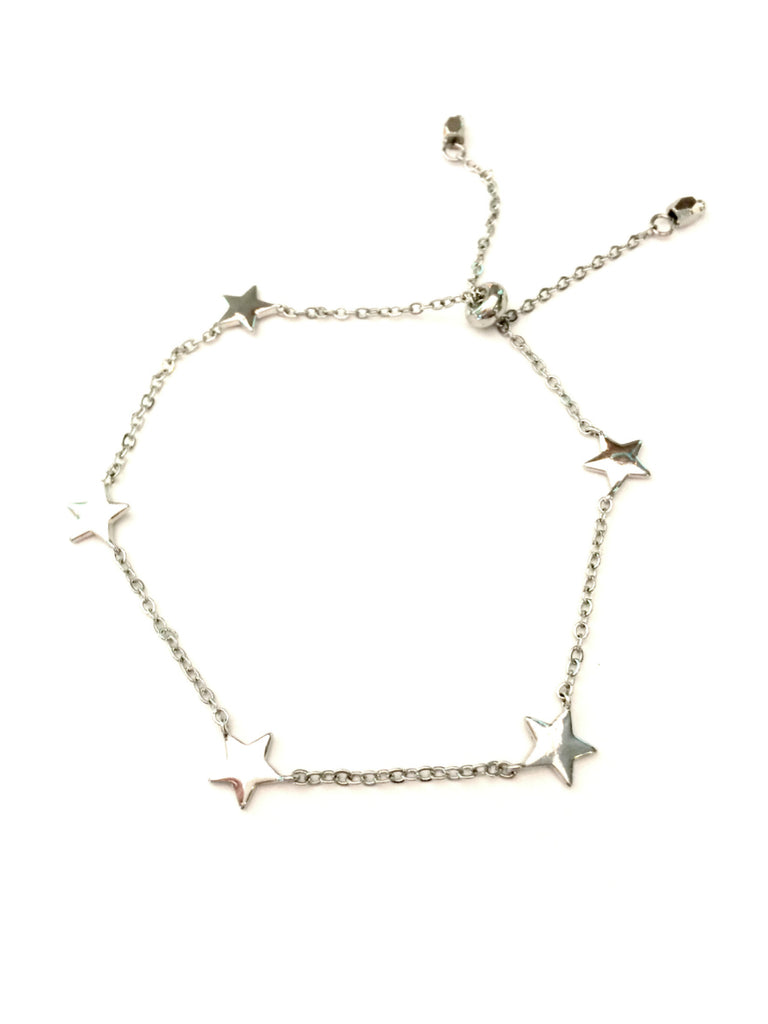 Linked Stars Bracelet | Gold or Silver Adjustable | Light Years Jewelry