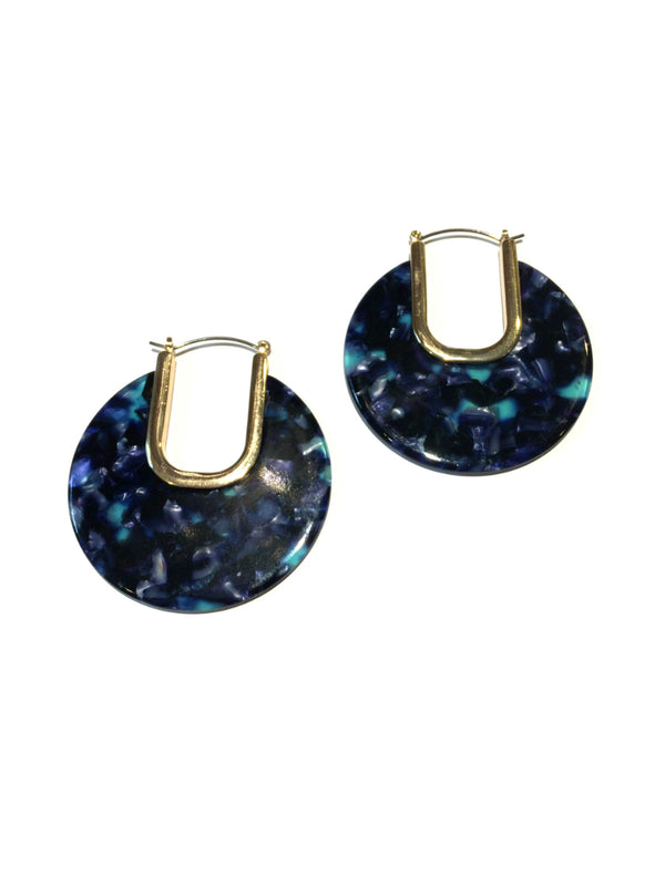 Blue Acrylic Statement Hoops | Fashion Earrings | Light Years Jewelry