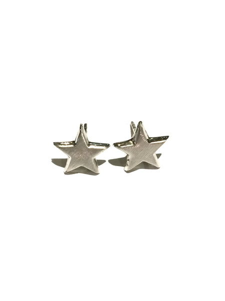 Matte Silver Star Posts | Sterling Silver Stud Earrings | Light Years
