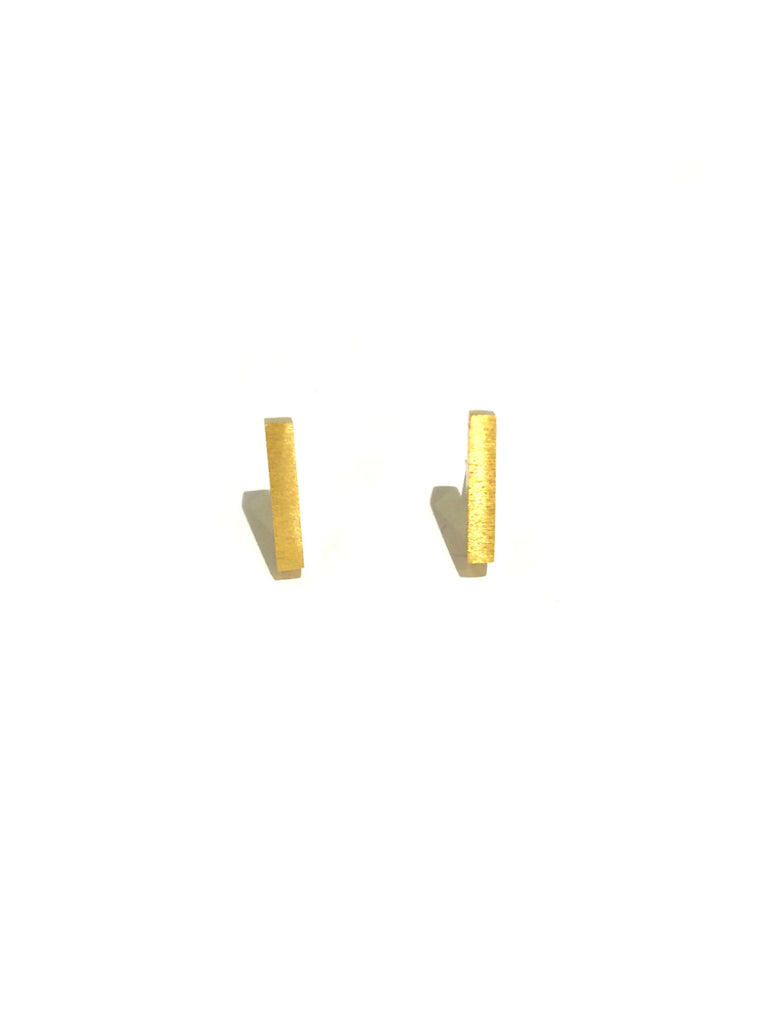 Brushed Bar Posts | Gold or Silver Plated Studs | Light Years Jewelry