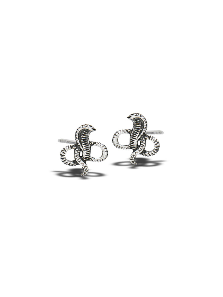 Coiled Cobra Posts | Sterling Silver Stud Earrings | Light Years Jewelry