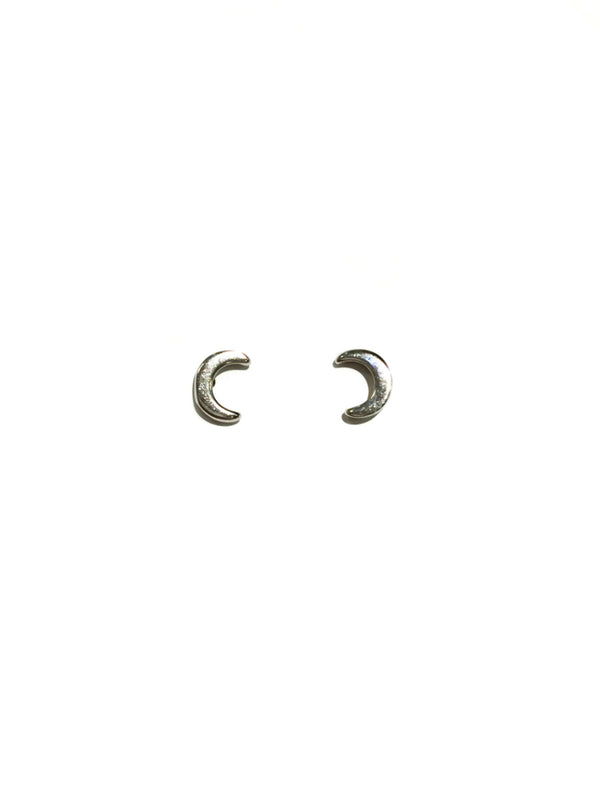 Small Crescent Moon Posts | Sterling Silver Stud Earrings | Light Years