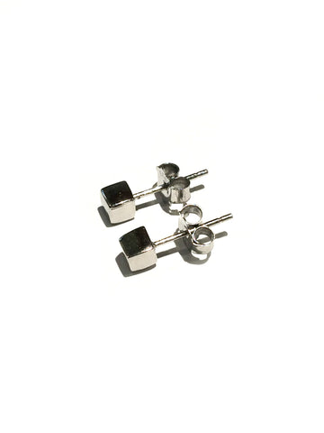 Cube Stud Earrings | Sterling Silver Gold Vermeil Posts | Light Years