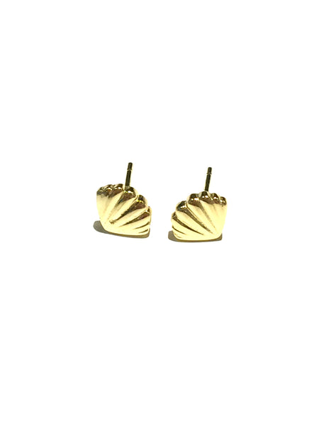 Seashell Stud Earrings | Sterling Silver Gold Vermeil Posts | Light Years