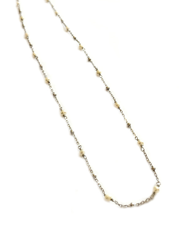 Dainty Freshwater Pearl Choker | Silver Vermeil Necklace | Light Years