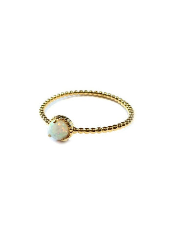 Opal Ball Ring | Gold Plated Band Sizes 6 & 7 | Light Years Jewelry
