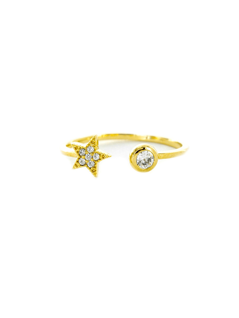 CZ Star Wrap Ring