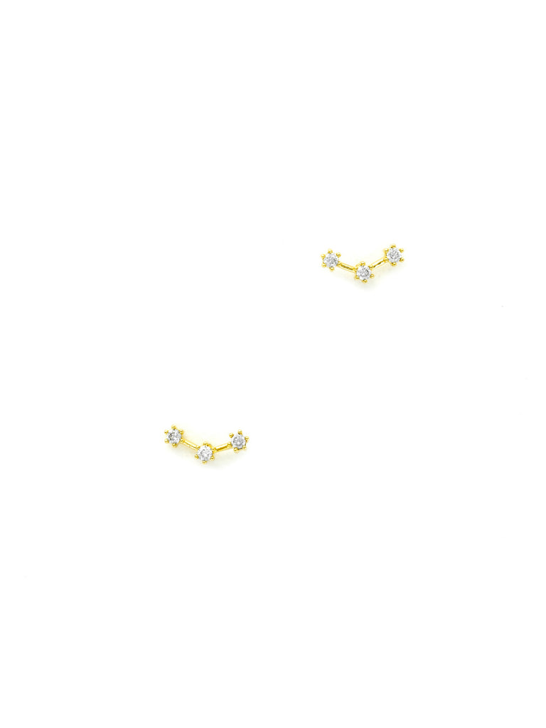CZ Constellation Posts | Gold Silver Plated Studs Earrings | Light Years