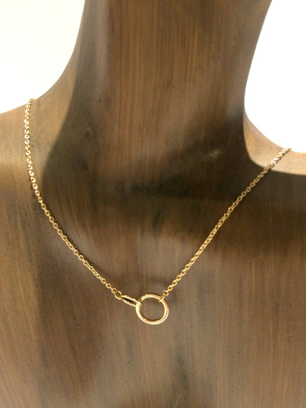 Locked Rings Necklace | Silver Gold Plated Chain | Light Years Jewelry