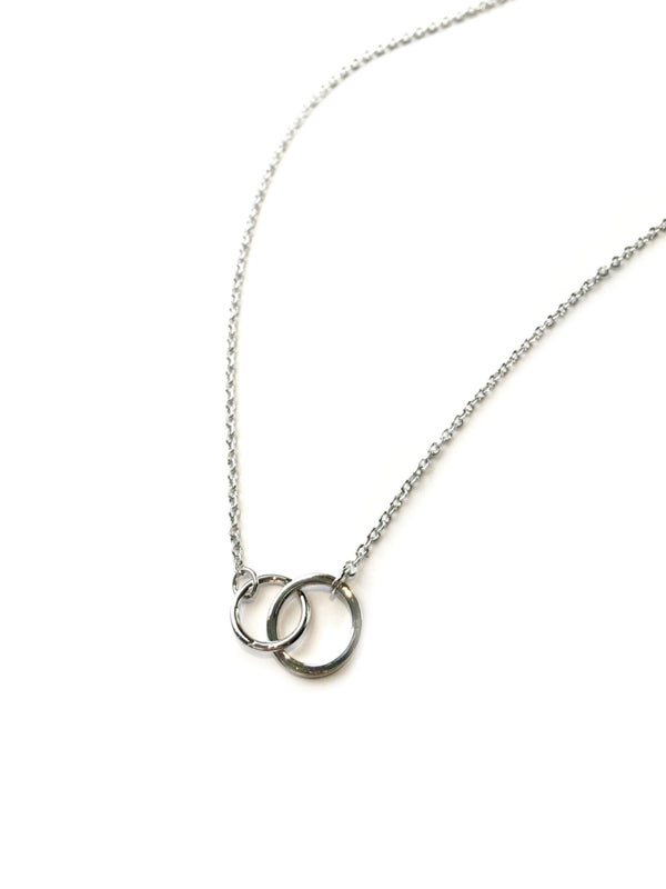 Locked Rings Necklace | Silver Plated Fashion Chain | Light Years