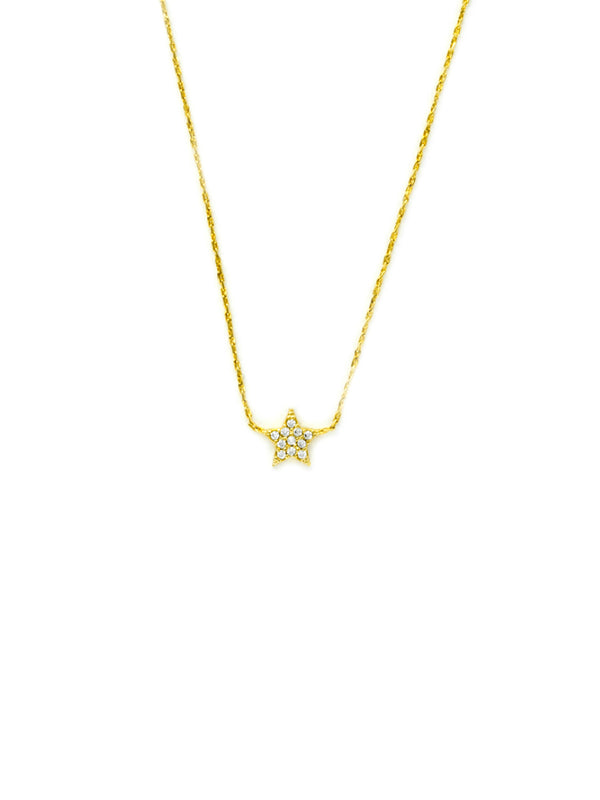 CZ Star Choker Necklace | Gold Plated Chain | Light Years Jewelry