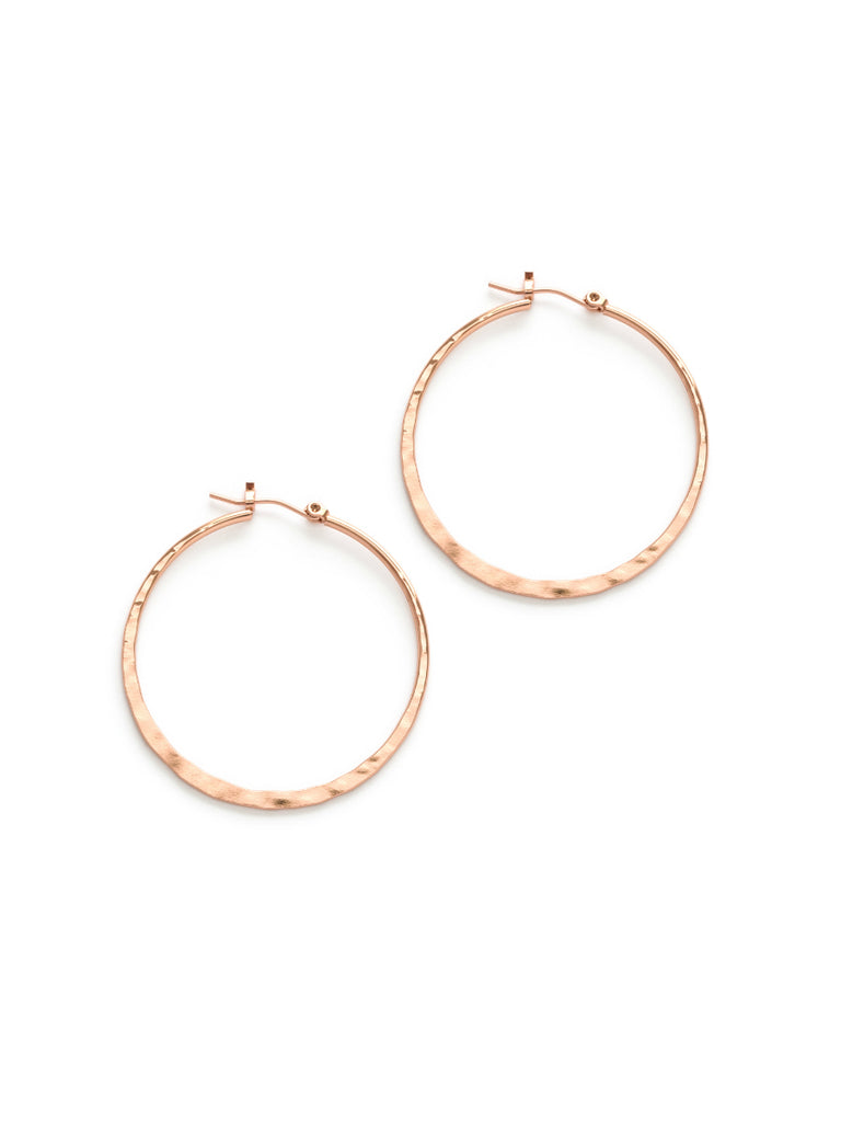 Hammered Pincatch Hoops | Silver, Gold, Rose Gold | Light Years Jewelry