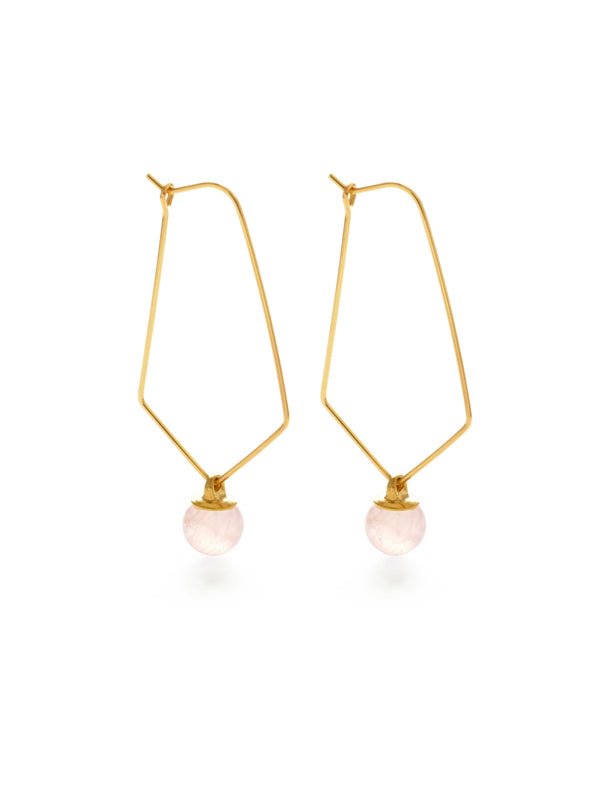 Cosmos Aventurine Hoops | Gold Plated Earrings | Light Years Jewelry