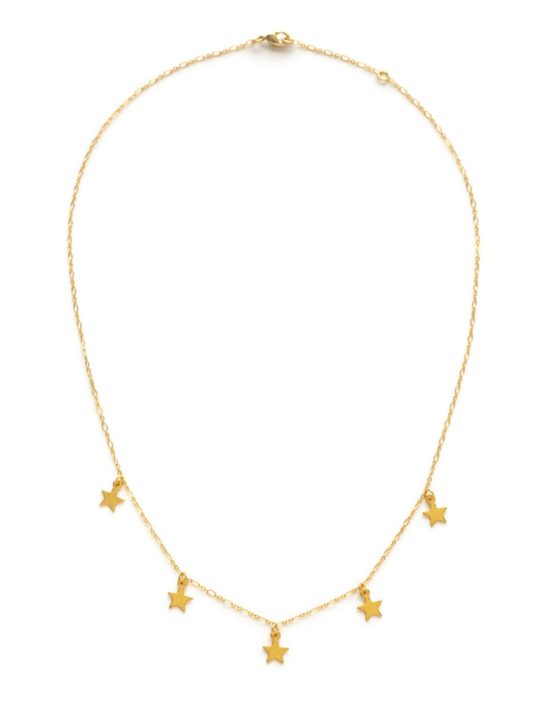 Five Floating Stars Necklace