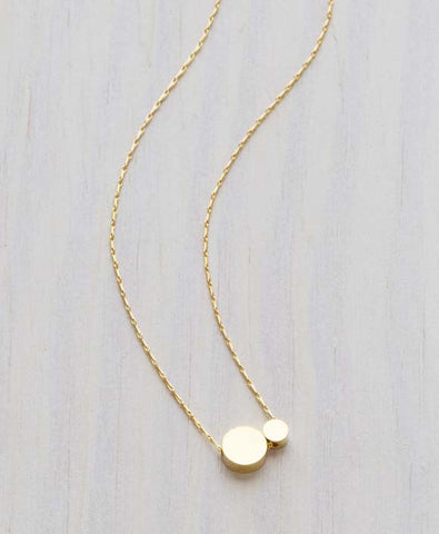 Double Dot Necklace | 14k Gold Plated Chain | Light Years Jewelry