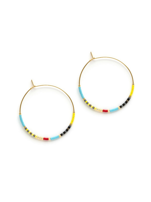 Colorful Beaded Hoop Earrings | 14kt Gold Filled | Light Years Jewelry
