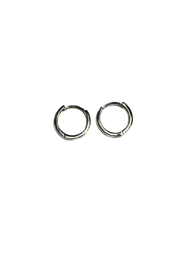 Hinged Huggie Hoops | Silver Gold Plated Earrings | Light Years Jewelry