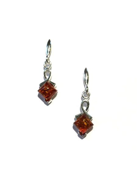 Modern Amber Post Earrings | Sterling Silver Studs | Light Years Jewelry