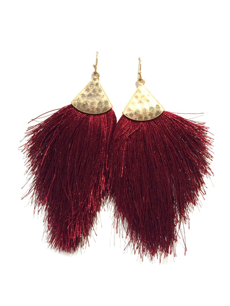 Autumn Tassel Dangles | Fashion Gold Statement Earrings | Light Years