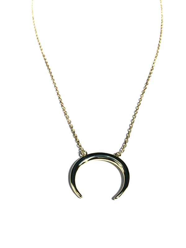 Horizontal Crescent Necklace