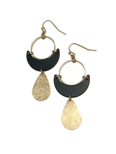 Crescent & Teardrop Statement Earrings | Fashion Dangles | Light Years