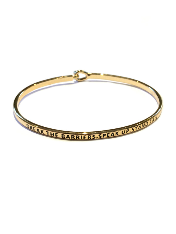 """Break Barriers..."" Cuff Bracelet 