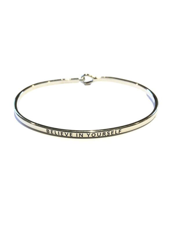 """Believe in Yourself"" Cuff Bracelet 