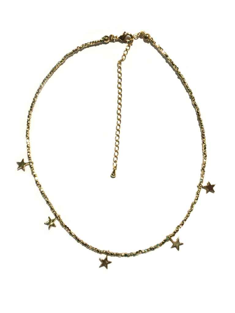 Beaded Star Chokers | Gold Silver Black Necklace | Light Years Jewelry