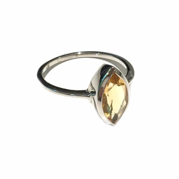 Citrine Marquis Ring | Sterling Silver Gemstone | Light Years Jewelry
