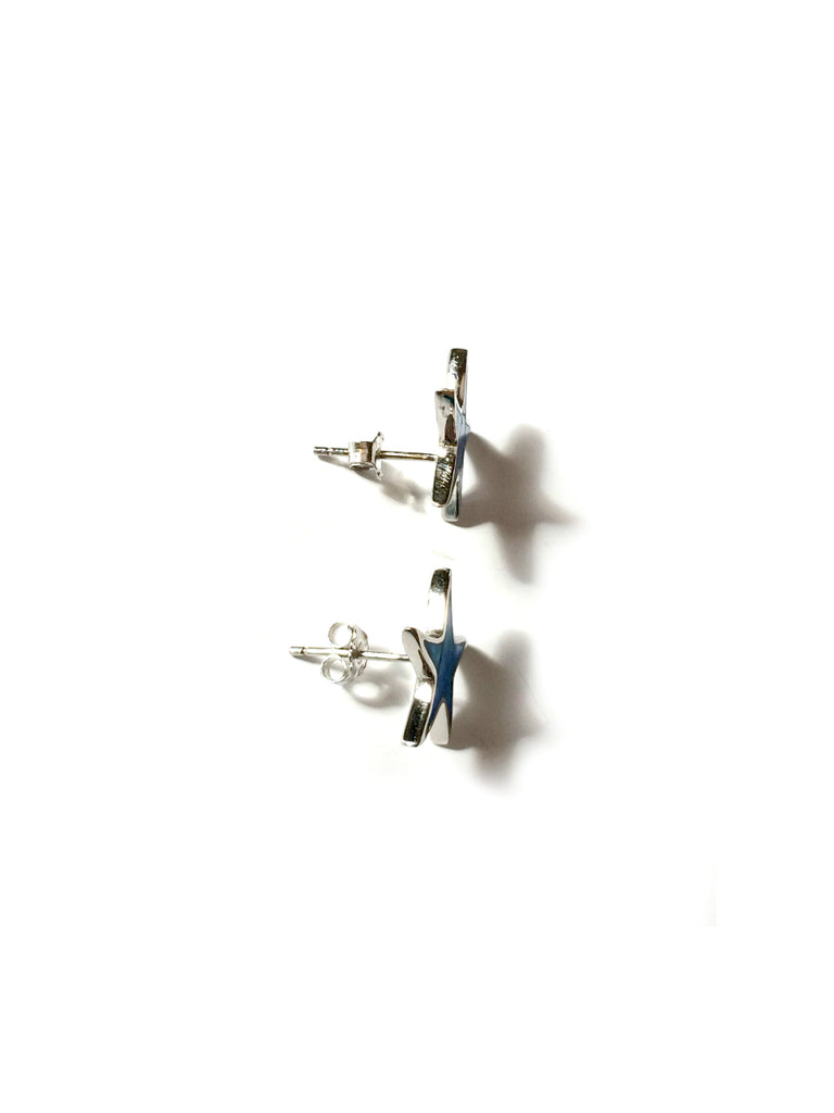 Blue Opal Starfish Posts | Sterling Silver Studs | Light Years Jewelry
