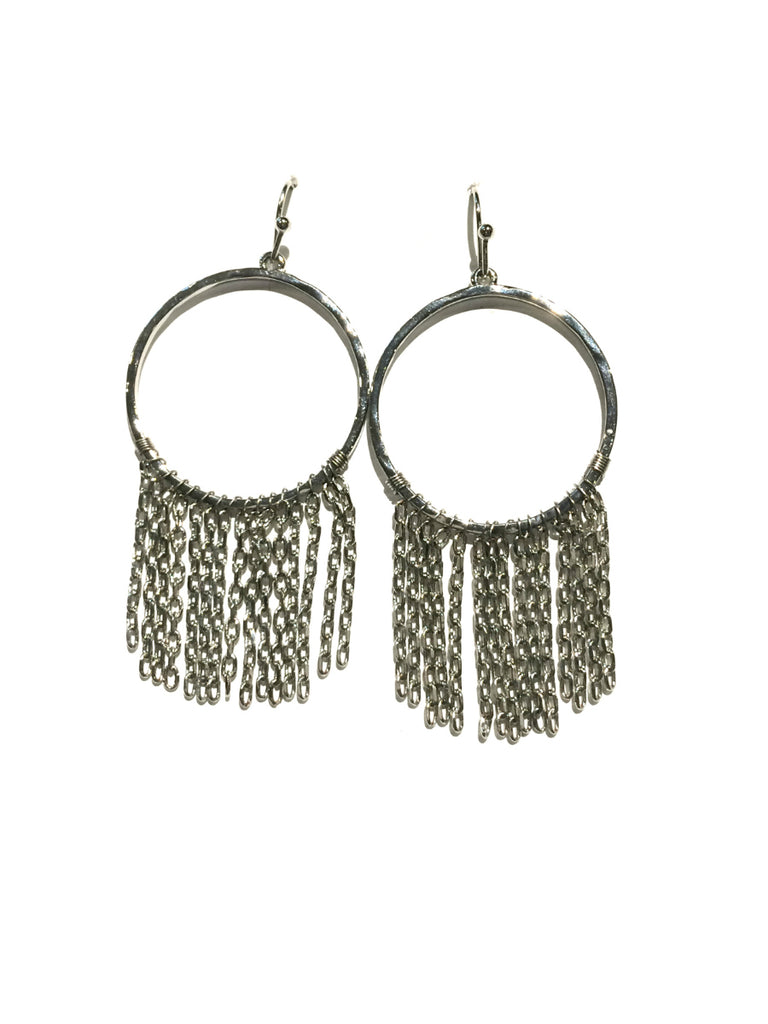 Ring & Chain Dangles | Fashion Statement Earrings | Light Years Jewelry