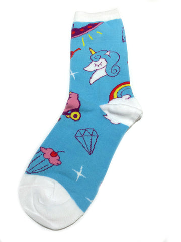 Cute Things Socks | Unicorn Women's Crew | Light Years Jewelry