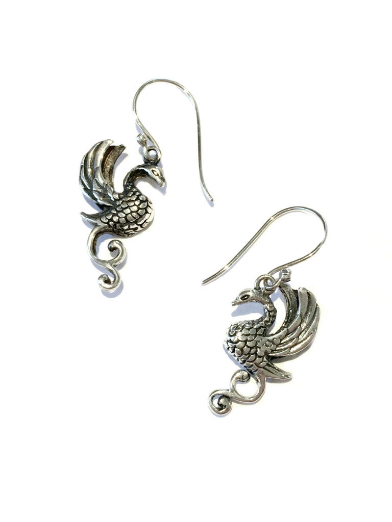 Phoenix Dangle Earrings | Sterling Silver | Light Years Jewelry