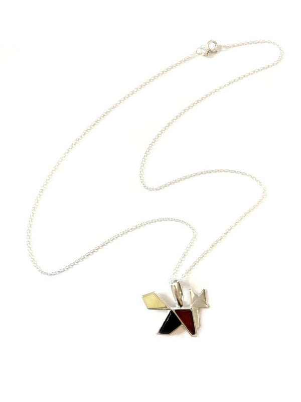 Origami Animal Amber Necklace | Sterling Silver | Light Years Jewelry