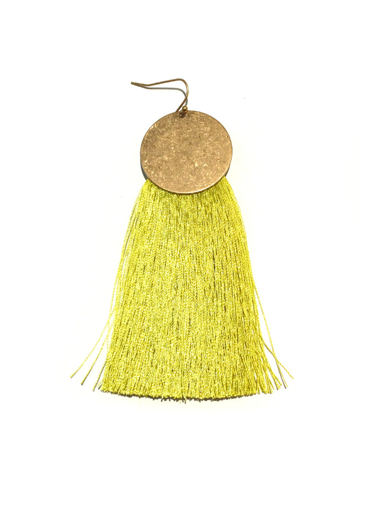 Tassel Statement Earrings | Gold Fashion Dangles | Light Years Jewelry