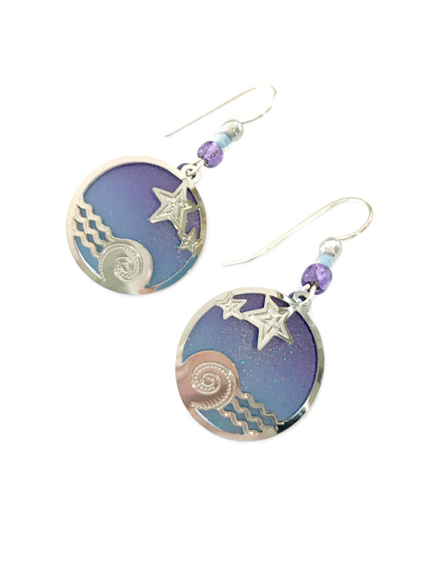 Night Sky Dangles by Adajio | Sterling Silver Earrings | Light Years