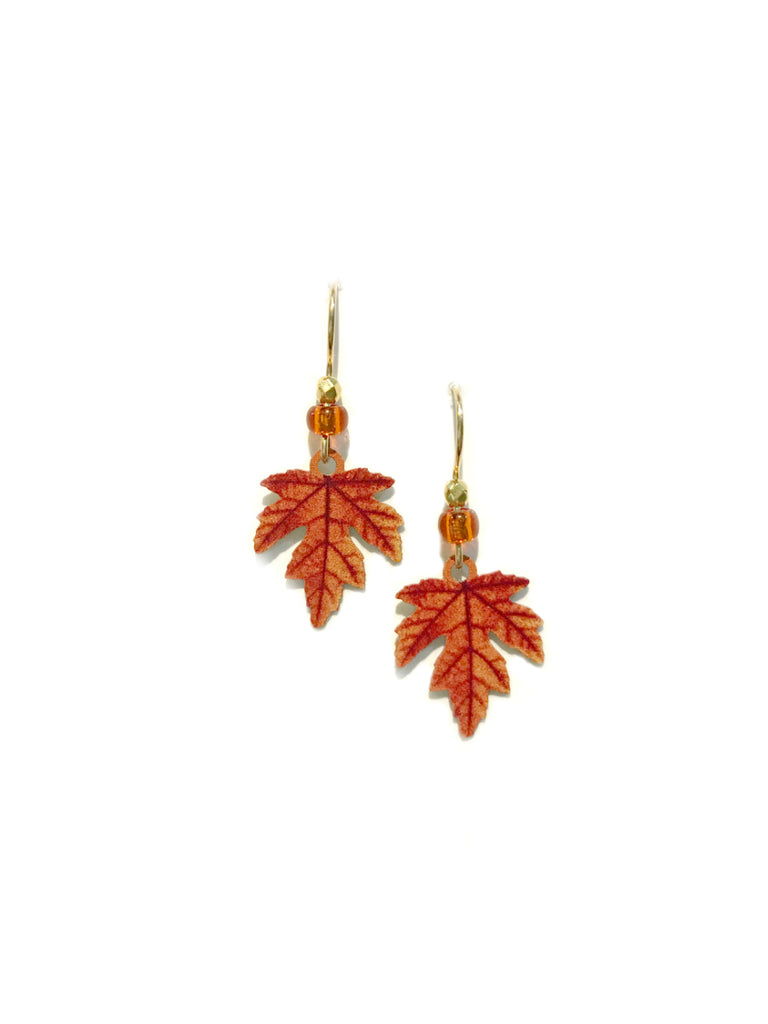Fall Maple Leaf Dangles Sienna Sky | Gold Filled Earrings | Light Years