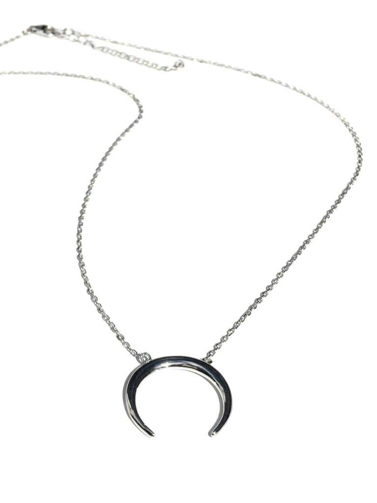 Horizontal Crescent Necklace | Sterling Silver Gold Vermeil | Light Years