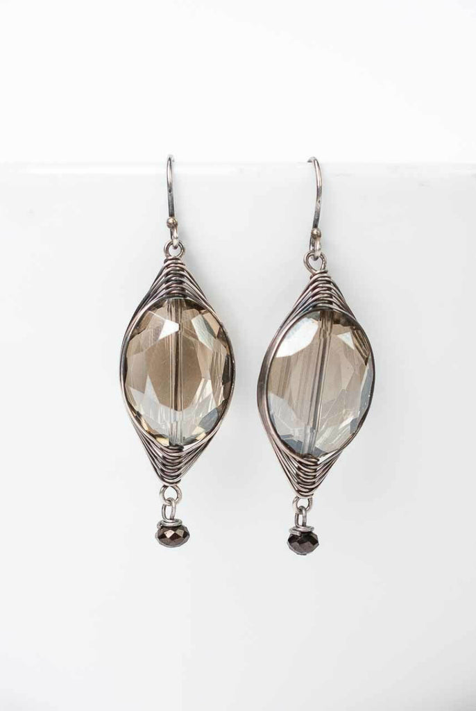 Windsor Castle Crystal Dangle Earrings | Handmade | Light Years Jewelry