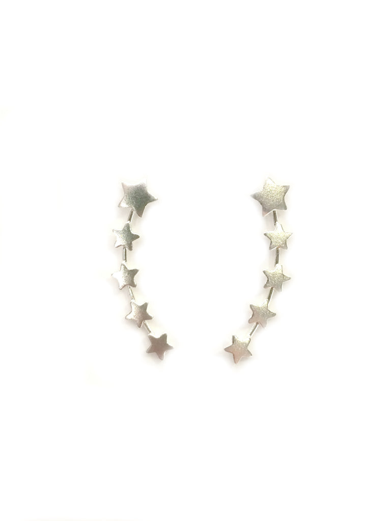 Row of Stars Ear Climber Earrings | Sterling Silver | Light Years