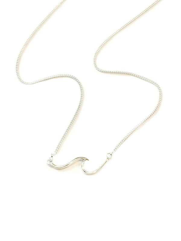 Ocean Wave Necklace | Sterling Silver 16-18"