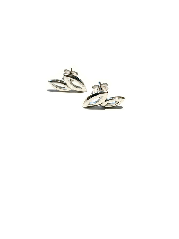 Two Leaves Posts | Sterling Silver Stud Earrings | Light Years Jewelry