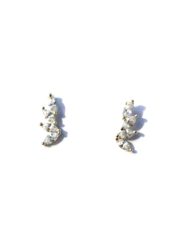 CZ Petal Posts | Sterling Silver Gold Vermeil Stud Earrings | Light Years