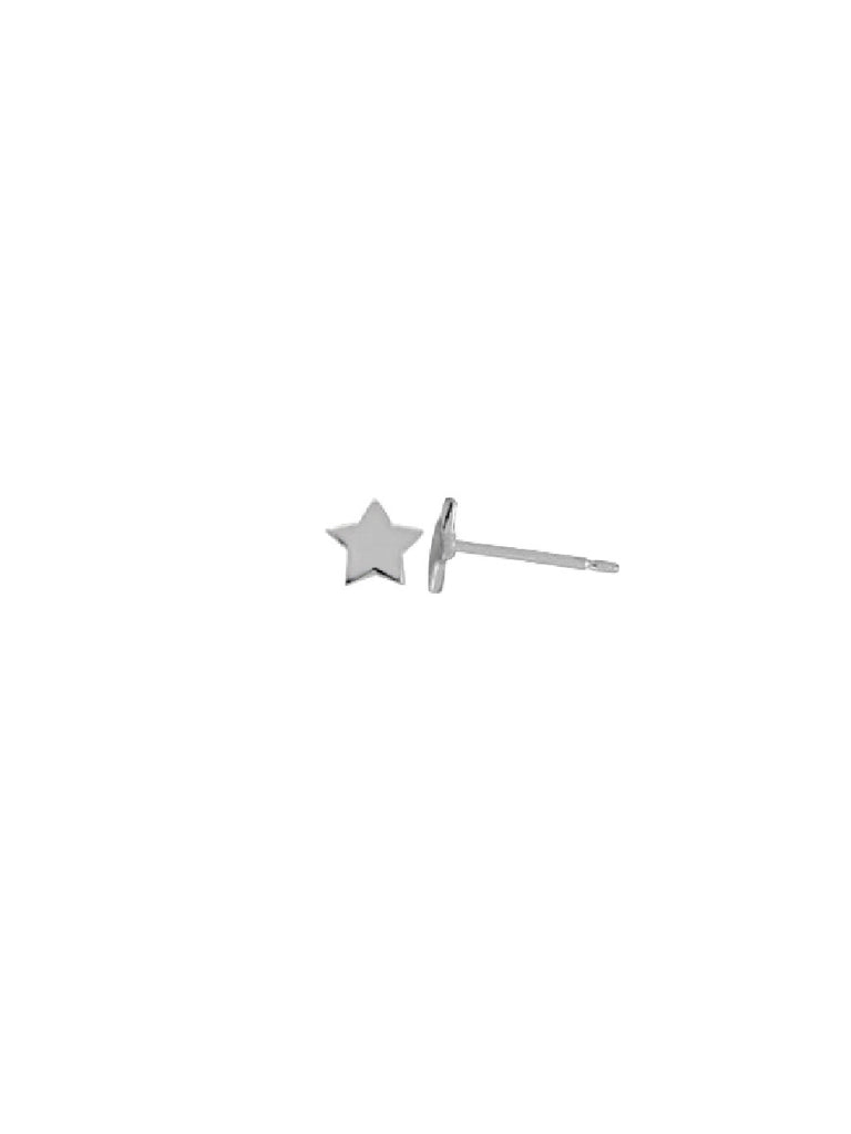 Flat Star Posts | Sterling Silver Studs Earrings | Light Years Jewelry