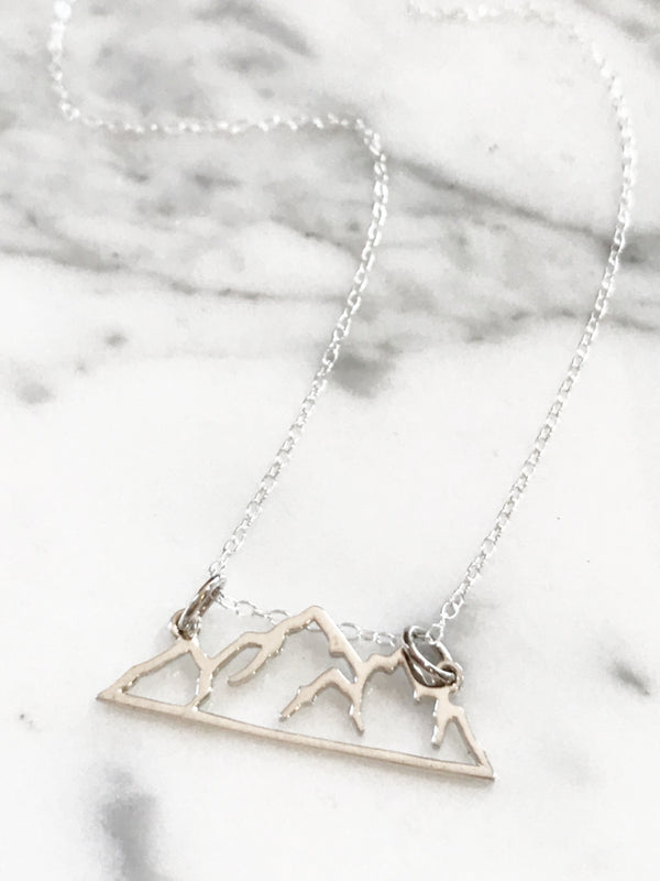 Mountain Range Necklace | Sterling Silver Chain Pendant | Light Years