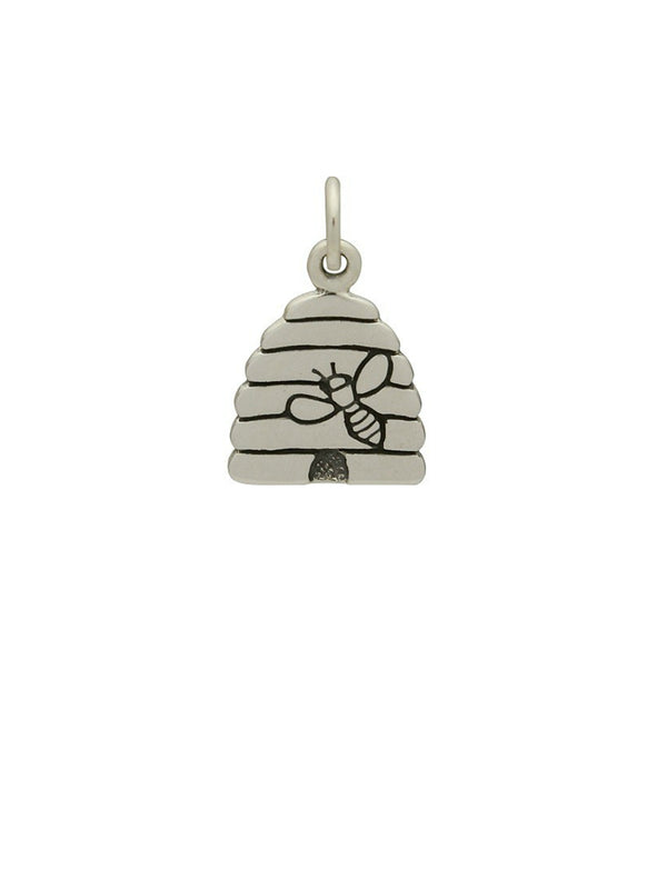 Honey Bee Hive Pendant Necklace | Sterling Silver Chain | Light Years
