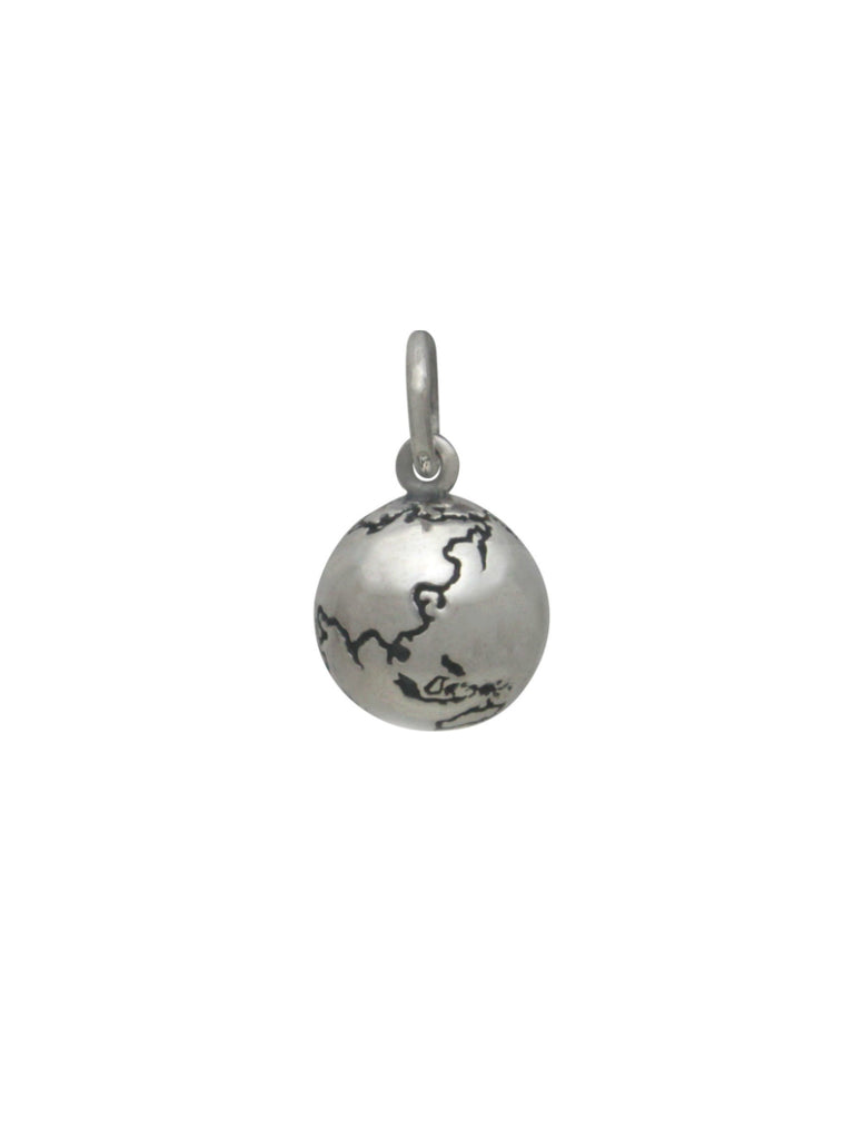 World Globe Necklace | Sterling Silver Pendant Chain | Light Years