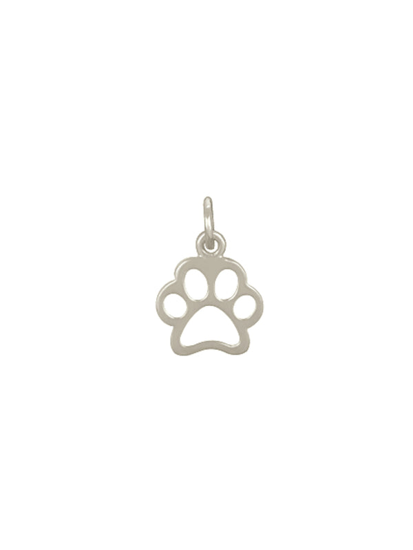 Paw Print Charm Necklace | Sterling Silver Pendant Chain | Light Years