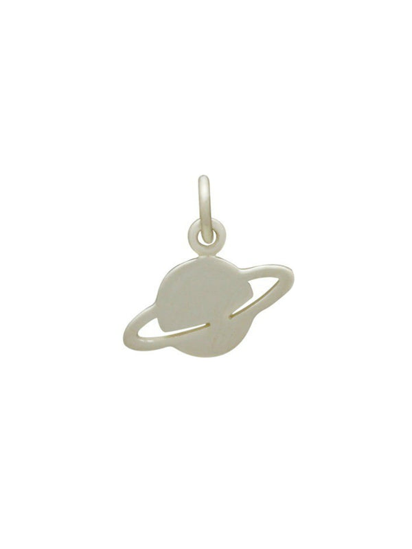 Saturn Necklace | Sterling Silver Pendant Chain | Light Years Jewelry